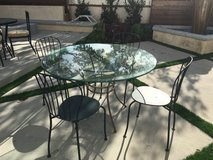 """48"""" round glass table top plus pedestal base in San Clemente, California"""