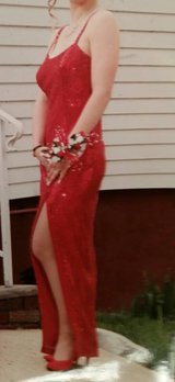 Red Sequined Evening Gown in Fort Lee, Virginia