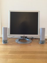 HP Pavilion f1905e Computer Monitor with speakers in Stuttgart, GE