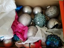 3 boxes of Random Christmas Ornaments in Travis AFB, California