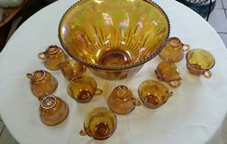 Iridescent gold punch bowl in Warner Robins, Georgia