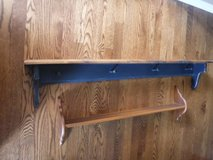 "Wooden Shelf - Americana Blue 46""L x 5-3/8"" D x 8"" T w/4 Pegs in Joliet, Illinois"