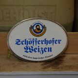 Schofferhofer Weizen German Beer Sign in Ramstein, Germany