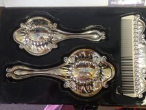 Vintage 3 piece Silverplated Dresser Set (New in box) in Warner Robins, Georgia