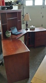 Liberty office furniture, computer desk, hutch and 2 side units - cherry in Elgin, Illinois