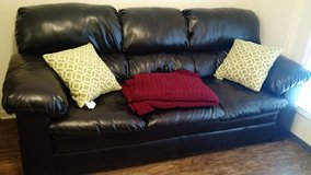 Pleather 3 seater couch in Columbus, Georgia