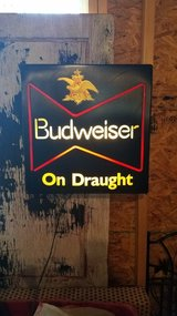 Budweiser beer light in Altus, Oklahoma