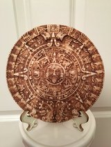 """LIKE NEW 7"""" AZTEC Calendar Decor with Stand in Aurora, Illinois"""