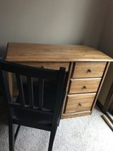 Solid wood desk and chair in Bartlett, Illinois