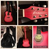 New Pink Kona Acoustic Guitar and Case in Houston, Texas