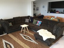 Large three piece microfiber couch (PENDING PICKUP) in Okinawa, Japan
