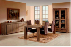 United Furniture - Alberta - Price $2080 includes China Cabinet + Table 180cm + 4 Chairs in Stuttgart, GE