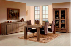 United Furniture - Dining Set Alberta - China Cabinet + Table + 4 Chairs -Includes Delivery in Grafenwoehr, GE