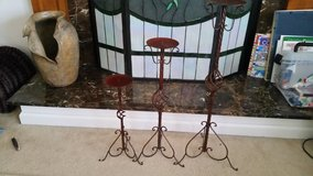 Tall Candle Holders Set of 3, rust color in Camp Lejeune, North Carolina