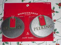 new 4pk metal gift tags in Lockport, Illinois