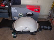 WEBER MODEL 220 PORTABLE GRILL (USED ONCE) WEBER STAND MODEL 6549 in Naperville, Illinois