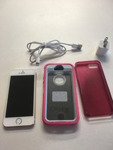 Iphone 5s 16 GB gold Sprint mint condition. + Otterbox, gel case, and charger in DeKalb, Illinois