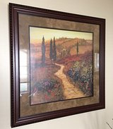 * Large wall art Tuscan countryside-wood frame in Morris, Illinois