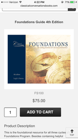 NEW: Classical Conversations Foundations Guide, 4th edition in Bolling AFB, DC