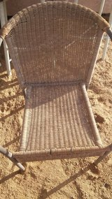 Wicker chair in Yucca Valley, California