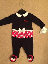 Disney baby 0-3 months one piece Minnie Mouse outfit in Morris, Illinois