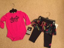 Adidas baby girl outfit size 6 months with tags in Morris, Illinois