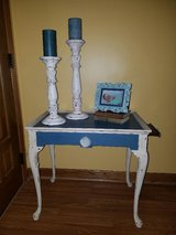 20% off sale till end of March!! !Pair of older Annie Sloan painted tables in DeKalb, Illinois