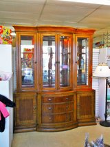 China Hutch Wood & Glass 2pc  (2028-61) in Camp Lejeune, North Carolina