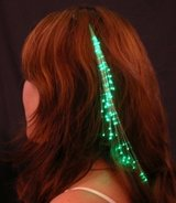 """GREEN"" Glowbys Fiber Optic Hair Extension Lights - NIP! in Bartlett, Illinois"