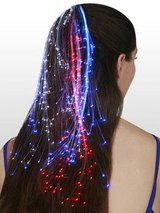 """RED"" Glowbys Fiber Optic Hair Extension Lights - NIP! in Bartlett, Illinois"