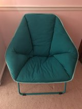 Teal foldable plush chair in Elgin, Illinois