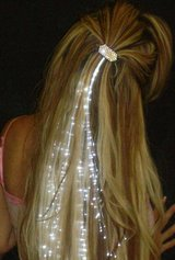 """WHITE"" Glowbys Fiber Optic Hair Extension Lights - NIP! in Bartlett, Illinois"