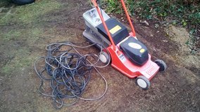 Electric Lawn Mower Sabo with bager 220 and cord in Ramstein, Germany