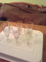 Six different coloured Champagne Glasses in Ramstein, Germany