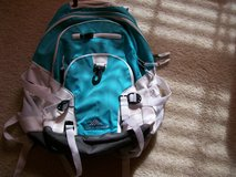 blue and white backpack in Camp Lejeune, North Carolina