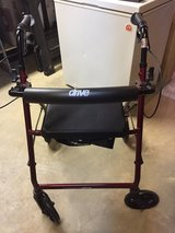 Rollator with seat- like new in Lockport, Illinois