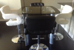 Glass Top Square table and stools in Bellaire, Texas