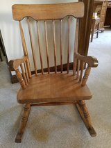 Vintage child's wooden rocking chair in Westmont, Illinois