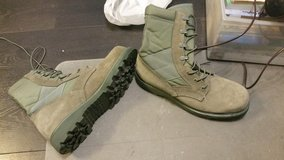 Military boots in Lakenheath, UK