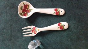 Large apple spoon and fork in Barstow, California