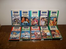 10 Old Walt Disney VHS Movies in Fort Campbell, Kentucky