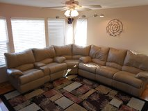 3pc Brown Leather Sectional in Joliet, Illinois