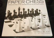 PAPER CHESS BY KELL BLACK AND JOHN SAUNDERS NEW in Ramstein, Germany