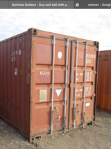 L/F Connex Storage Container in Fort Irwin, California