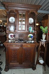gorgeous antique Mechelen hutch with 3 dimensional carvings in Spangdahlem, Germany