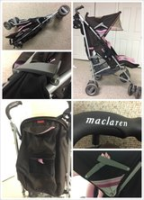 Girl Maclaren stroller with rain cover. in Bartlett, Illinois