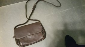 Brown leather purse in Lakenheath, UK