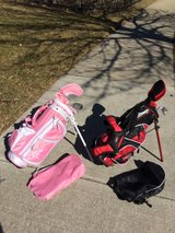 2 Kids 3 pc Golf Club Sets with Bags in Aurora, Illinois
