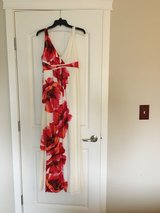 Ball Gown: Cream with Red Flowers in Olympia, Washington