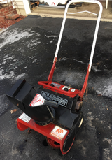 Older snapper 2 cycle snowblower with metal auger input in Joliet, Illinois